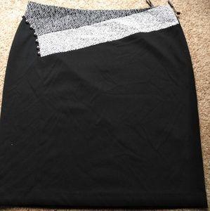 Calvin Klein black skirt with zipper size 16